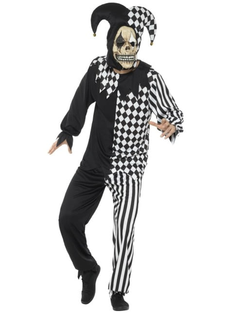 Troublesome black and white Harlequin costume
