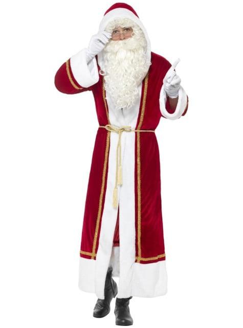Disfraz de Papá Noel abrigado para hombre