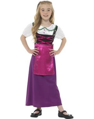 Costum țărănesc cu crinolină pentru fete