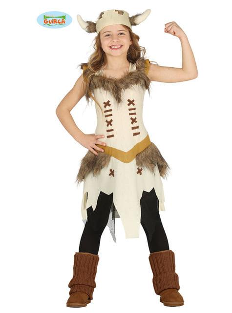 Fato de mulher Viking valente para menina