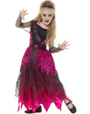 Fato de Rainha do baile gótica para menina
