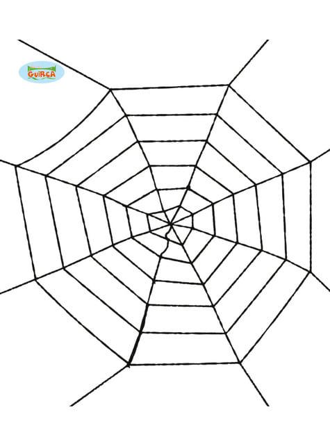 Spinnennetz schwarz 100 cm
