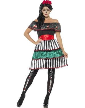 Дамски костюм на скелета Катрина за Деня на мъртвите