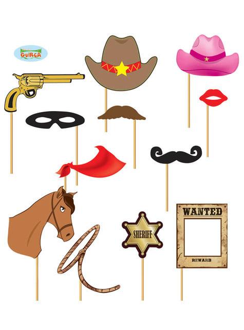 Conjunto de 12 peças para Photocall Western