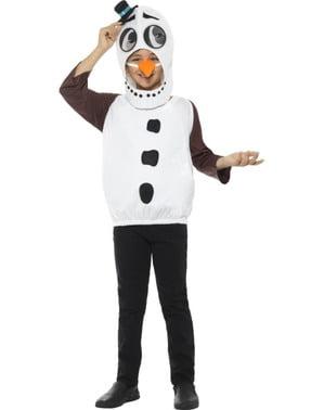 Maskeraddräkt snögubbe med knappar för barn