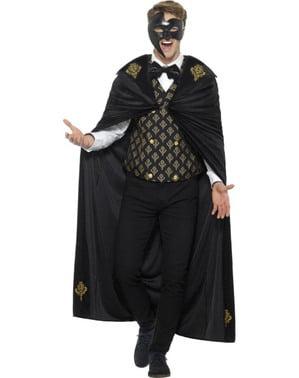 Fato de fantasma da ópera para homem
