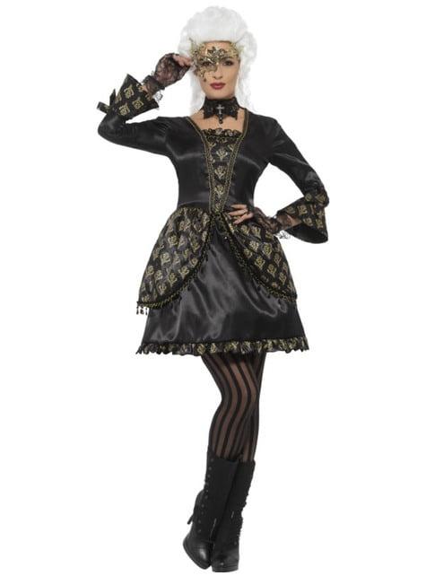 Women's ghost of the opera costume