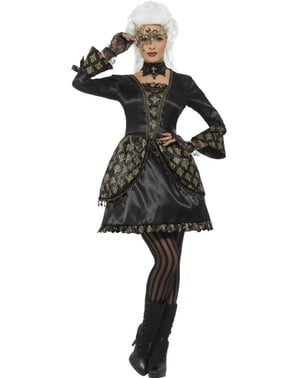 Disfraz de fantasma de la ópera para mujer
