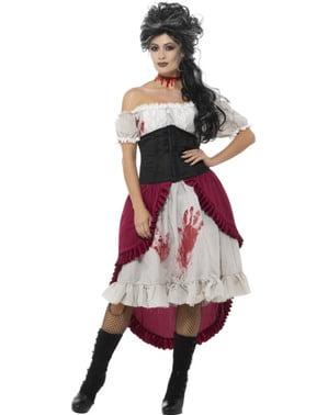 Naisten viktoriaaninen vampyyrin uhri -asu