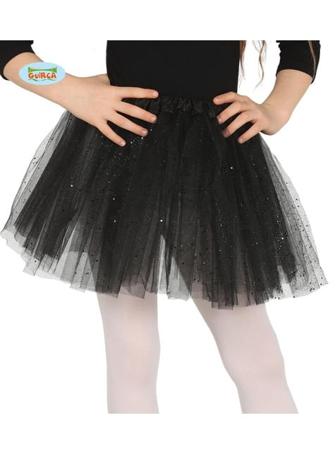 Black glitter tutu for girls