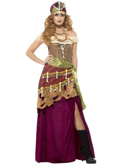 Behekst voodoo kostuum voor vrouw