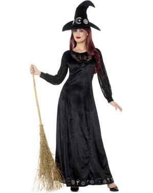 Fato de bruxa da penumbra para mulher