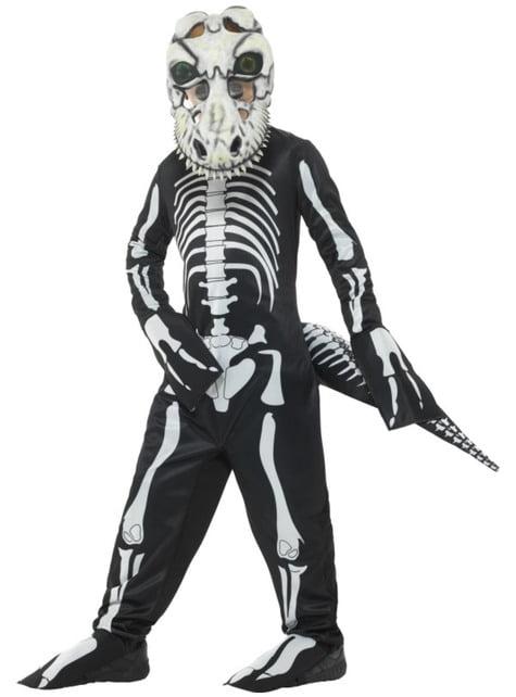 Tyrannosaurus Rex skelet dinosaurus kostuum voor kinderen