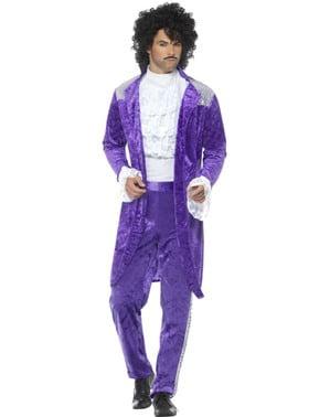 Fialová 80. léta hudební kostým pro muže