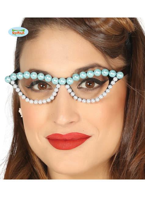 Gafas de perlas para mujer