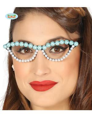 Kadınlar için inci gözlük