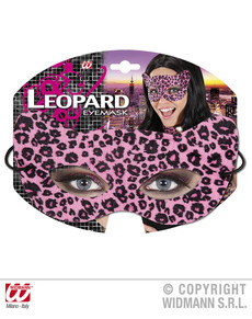 Antifaz de leopardo seductor rosa para adulto