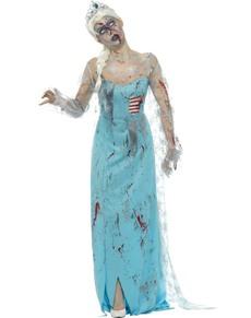 Disfraz de Elsa zombie para mujer