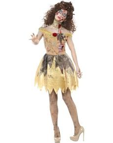 Costume da Belle zombie per donna