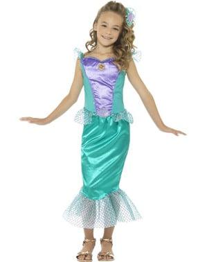Fato de sereia dos mares para menina