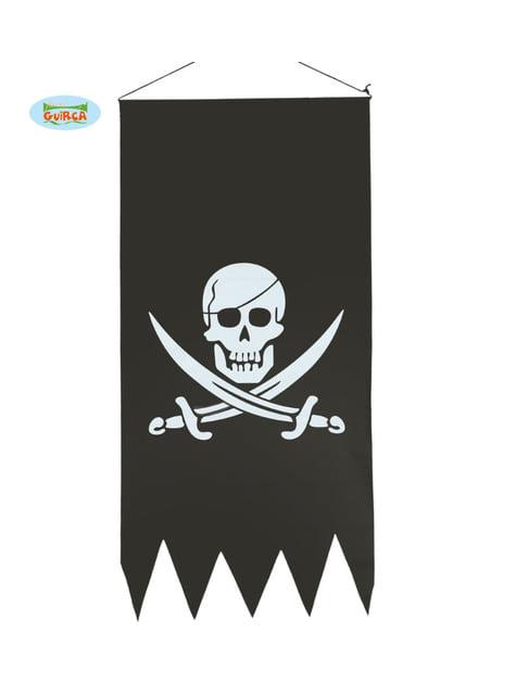Drapeau pirate noir avec tête de mort
