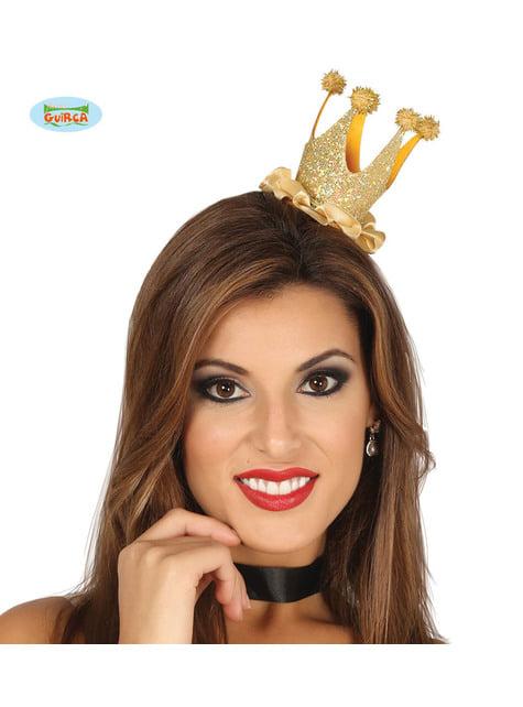 Bandolete com mini coroa dourada para mulher