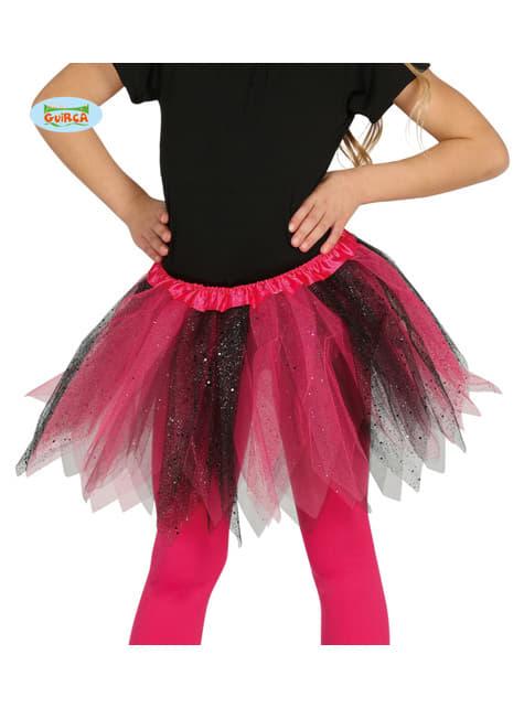 Tutu rose et noir paillettes fille