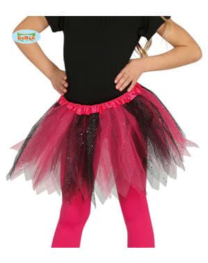लड़कियों के लिए गुलाबी और काले ग्लिटर टुटू