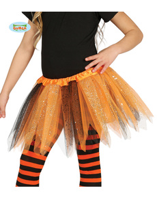 346e418281 Tutú naranja y negro con brillantina para ... class