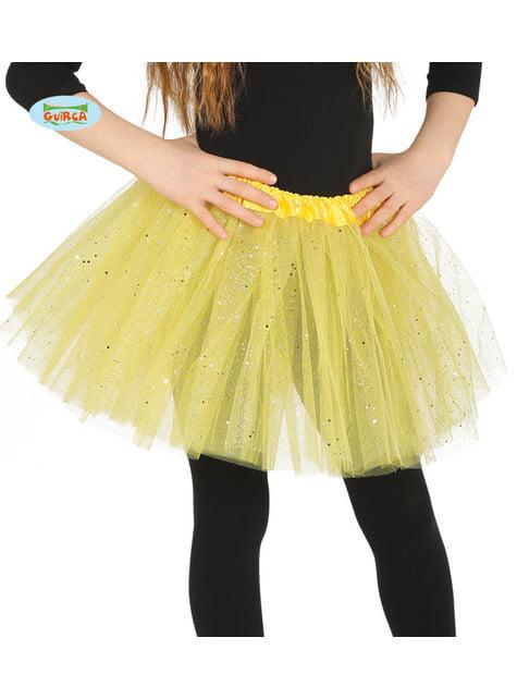 Yellow glitter tutu for children