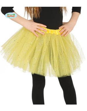 बच्चों के लिए पीले ग्लिटर टूटू