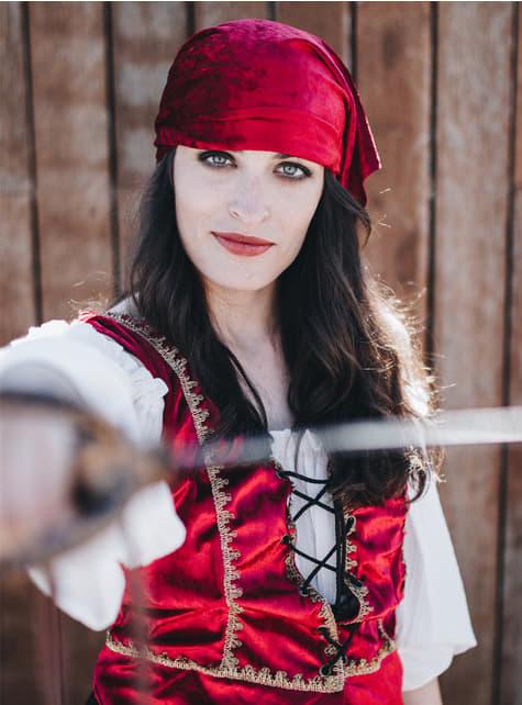 Heldhaftig piratenkostuum voor vrouwen
