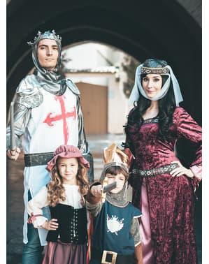 Burgunder Lady Marion kostyme