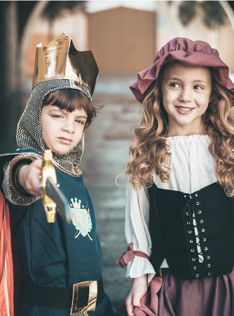 Disfraz de tabernera Eliana niña - niña
