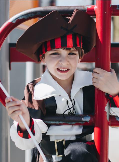 Disfraz de pirata de los 7 mares para niño - original