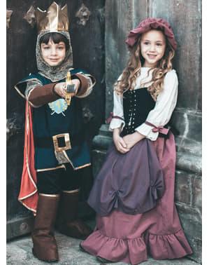 Chlapci stredovekého kráľa kostým