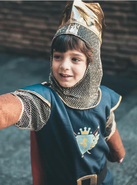 Fato de rei cavaleiro para menino