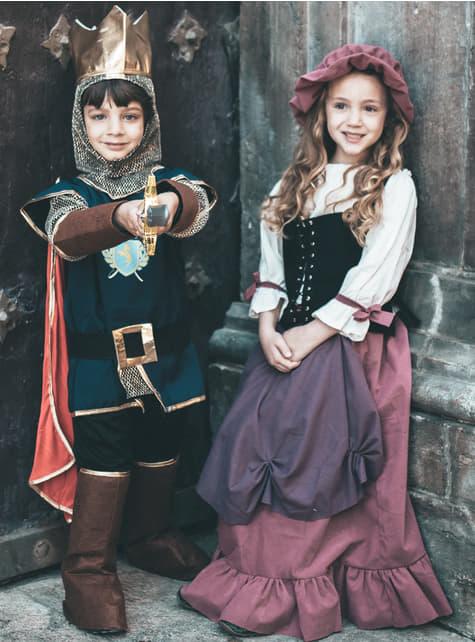 Middeleeuwse serveerstersjurk voor meisjes