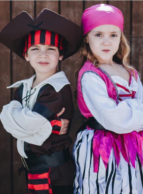 Disfraz de pirata coqueta para niña - niña
