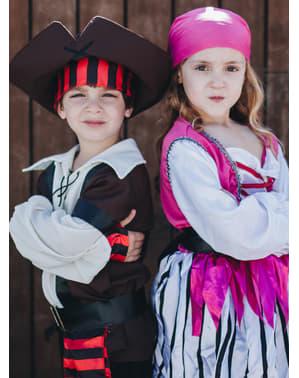 Piratin Kostüm für Mädchen pink