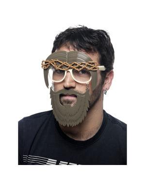 Jesus Kristus med skjegg briller for voksne