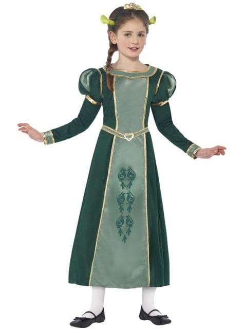 Girls' Fiona Shrek costume