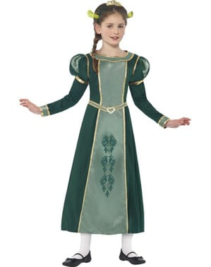 Girls' Fiona Shrek costume