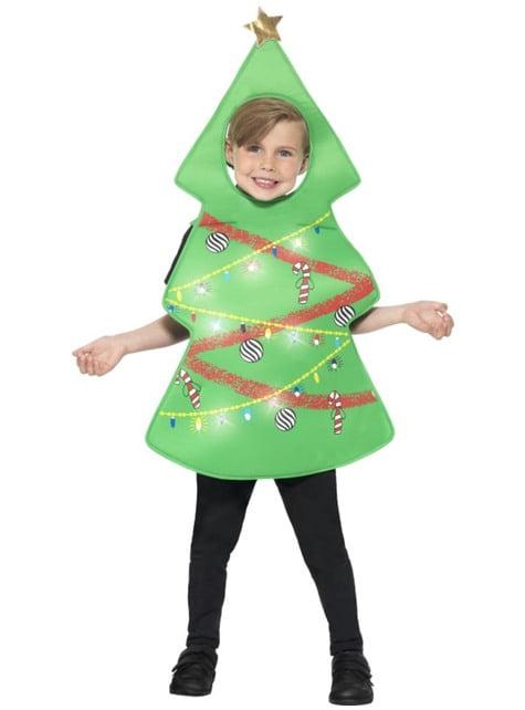 Disfraz de árbol de navidad luminoso infantil