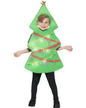 Luminous christmas tree costume for kids