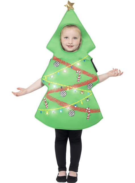 Luminous christmas tree costume for kids