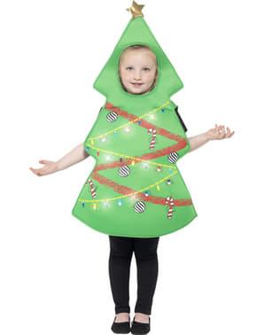 Lysende juletræs kostume til børn