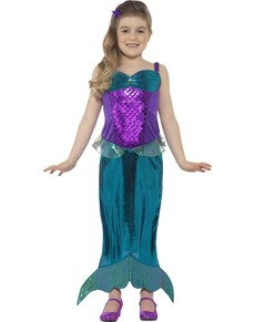 Disfraz de sirena mágica brillante para niña