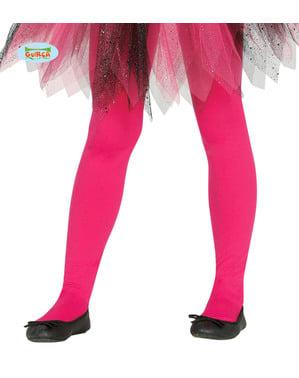 Collants cor-de-rosa infantis