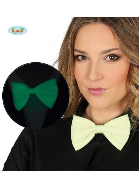 White fluorescent bow tie for adults